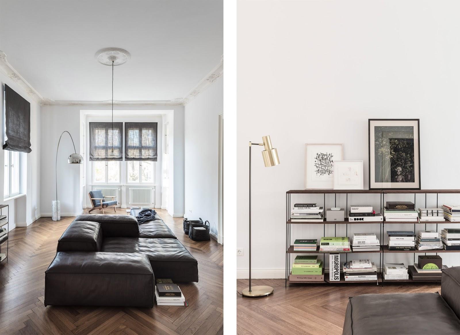Appartamento del 19 secolo tra antico e moderno a berlino for Appartamento stile moderno