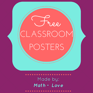 photo relating to Free Printable Classroom Posters identify Math \u003d Enjoy: Free of charge Clroom Posters