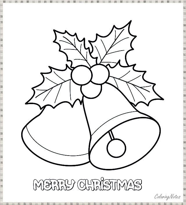 10 Funny Christmas Bells Coloring Pages Free Printable ...