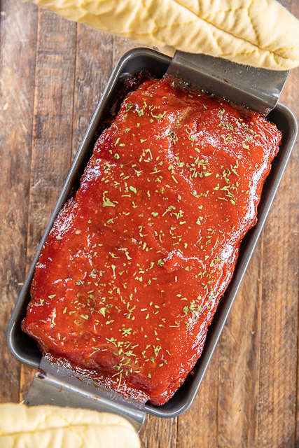 meatloaf in baking pan