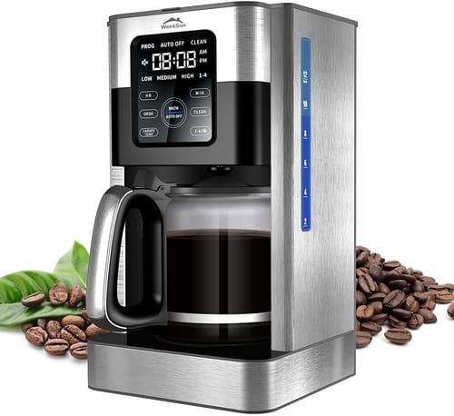 MIAOKE Touch-Screen Programmable Coffee Maker