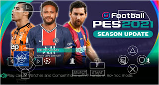 Download PES 2021 PPSSPP Chelito V1.0.2 English Version Best Graphics Camera PS5 & Update Full Transfer