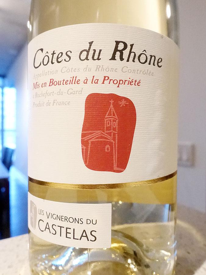 Les Vignerons du Castelas Côtes du Rhône Blanc 2017 (88 pts)