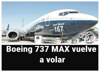 Boeing 737 MAX obtiene aprobación de la FAA para volar