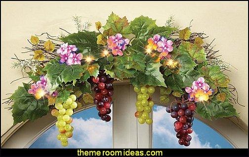 Vineyard Grape hanging decorations grape lights grape cluster decor vineyard tuscany home decor