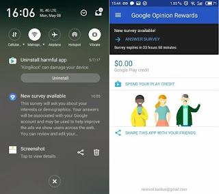 Cara Dapat Uang Dengan Mudah Dari Google Survey di Android