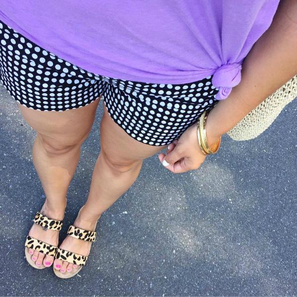 mom style, polka dot shorts, summer style