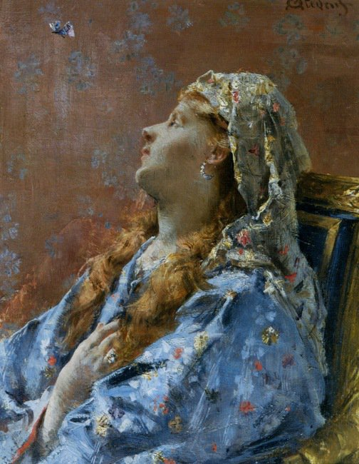 Alfred Stevens 1823-1906 | Belgian Academic Classical painter