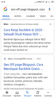 Seo off-page blogspot
