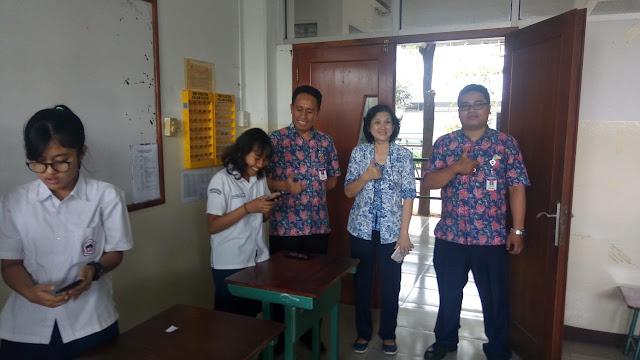 Manfaatkan IT, SMP KK Adakan E-Voting Ketua dan Wakil Ketua OSIS