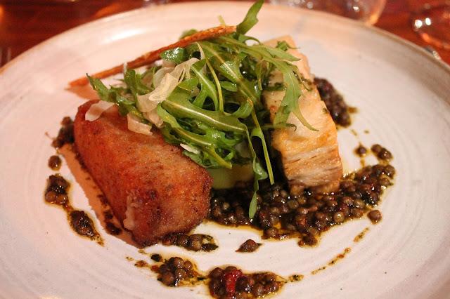 pork belly at the hardwick restaurant in abergavenny