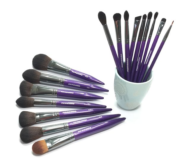 cozzette makeup brushes vegan cruelty-free