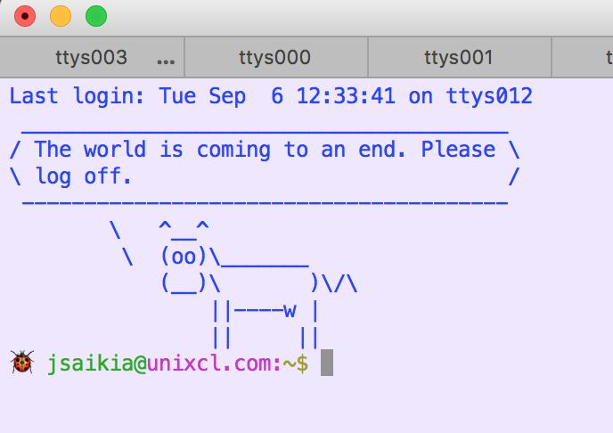 UNIX Command Line: Display ASCII pictures on Unix terminal