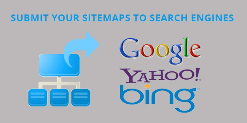 Submission of sitemap to search engines
