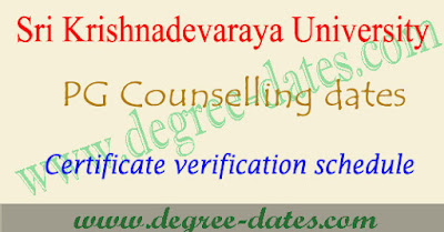 SKUCET counselling dates 2017 sku pgcet certificate verification