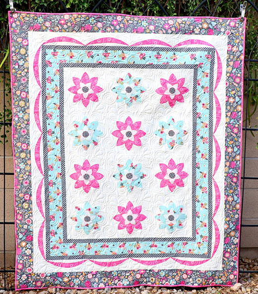 Meadow Lane Quilt designed by Carol S. of Just Let Me Quilt for Riley Blake Designs