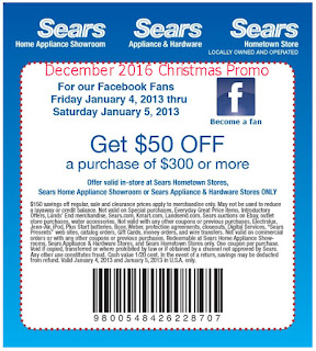 Sears coupons for december 2016