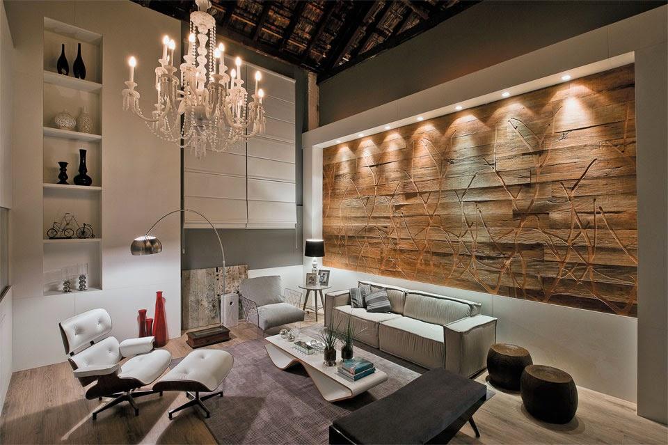 Paredes decoradas e diferentes veja 30 ideias timas for Paredes de salas modernas