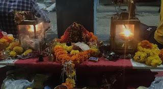 पैदल ज्योत यात्रा का राजगढ़ में किया स्वागत, बडवेली में महा आरती का किया आयोजन