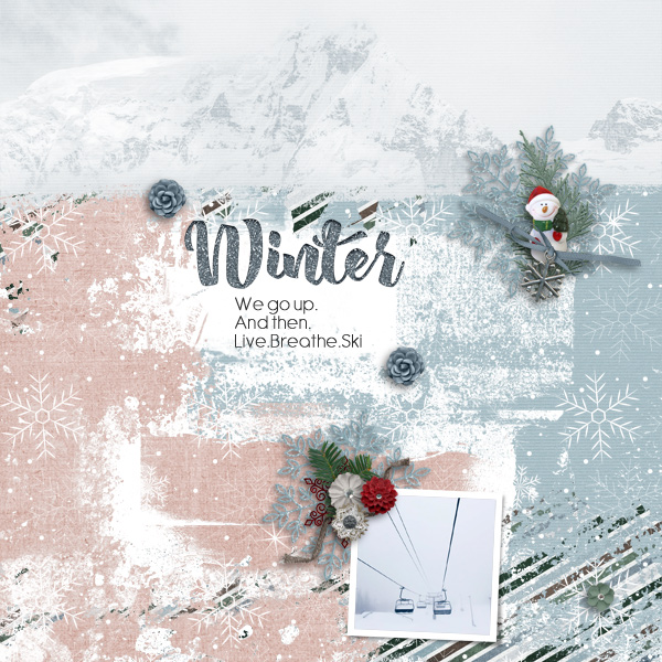 winter © sylvia • sro 2018 • winters freeze by nibbles skribbles & template winter freeze by heartstrings scrap art