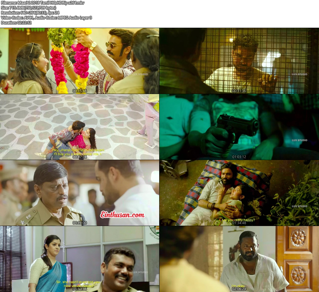 Maari 2 2018 Tamil HQ HDRip x264 | 480p 300MB | 100MB HEVC Screenshot