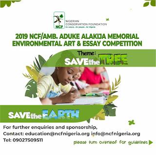 2019 NCF/AMB. Aduke Alakija Environmental Art & Essay Competition