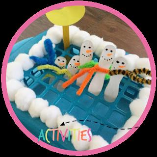5 little snowman activity