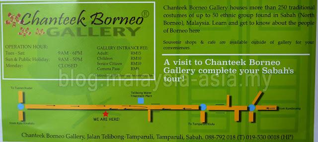 Map of Chanteek Borneo Gallery