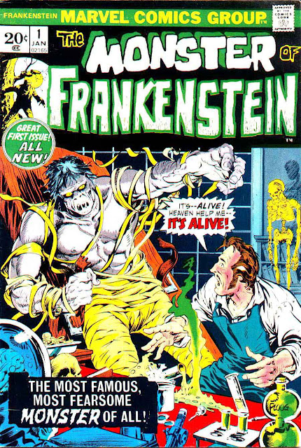 Frankenstein v2 #1 marvel bronze age comic book cover by Mike Ploog