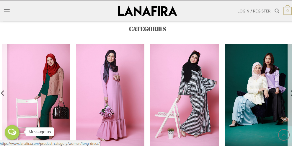 butik muslimah, pakaian muslimah, butik online, lanafira.com