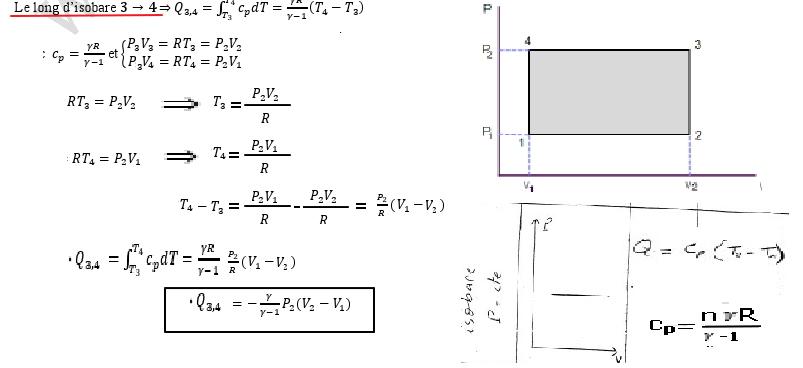 Exercice Thermodynamique S1 Diagramme De Clapeyron Travail La Quantit U00e9 De Chaleur