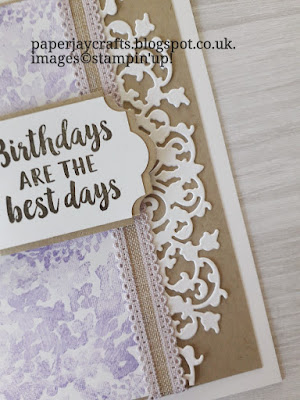 Beautiful Friendship, Delicate Lace Dies, Birthday Card Stampin Up