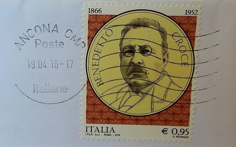 francobollo per il 150° anniversario nascita di Benedetto Croce