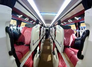 Legacy SR2 Suites Class, Bus Mewah Aman Dan Nyaman Buatan Karoseri Laksana Di GIICOMVEC 2020