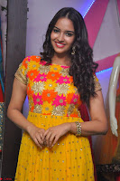 Pujitha in Yellow Ethnic Salawr Suit Stunning Beauty Darshakudu Movie actress Pujitha at a saree store Launch ~ Celebrities Galleries 014.jpg