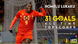 Striker MU Romelu Lukaku Top Skorer Timnas Belgia