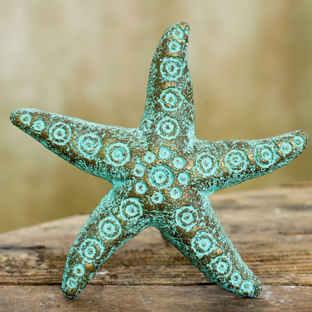 Unique Starfish Recycled Paper Starfish Wall Decor