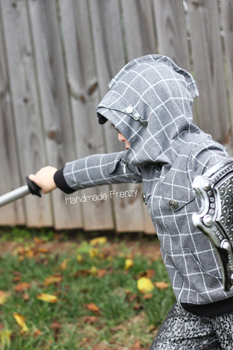 Sewing // Knight Hoodie & Costume