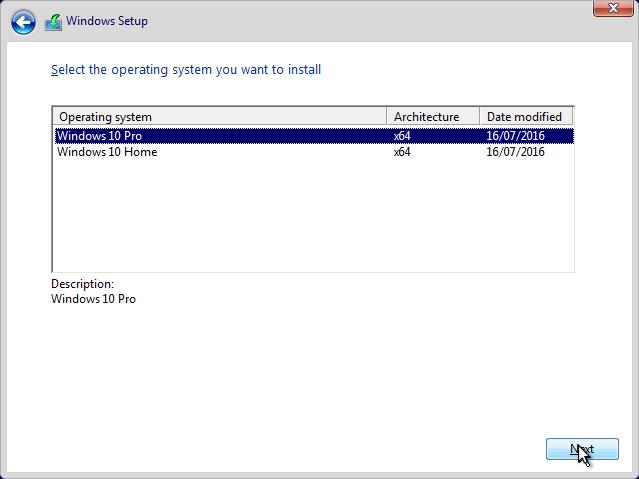 Pilih Install Windows 10 Pro