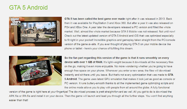 GTA 5 Android and IOS
