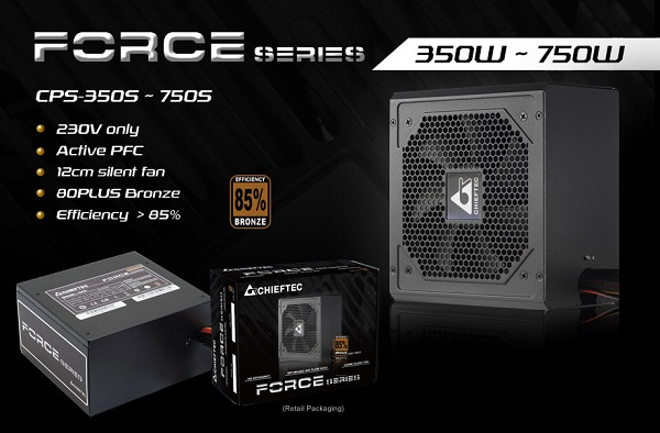 Chieftec Force CPS-400S / CPS-450S / CPS-500S