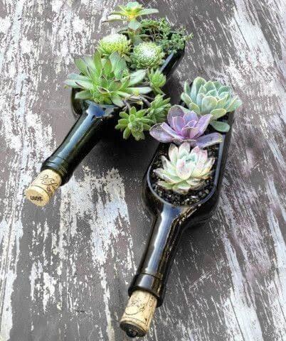 Membuat Pot bunga dari botol bekas