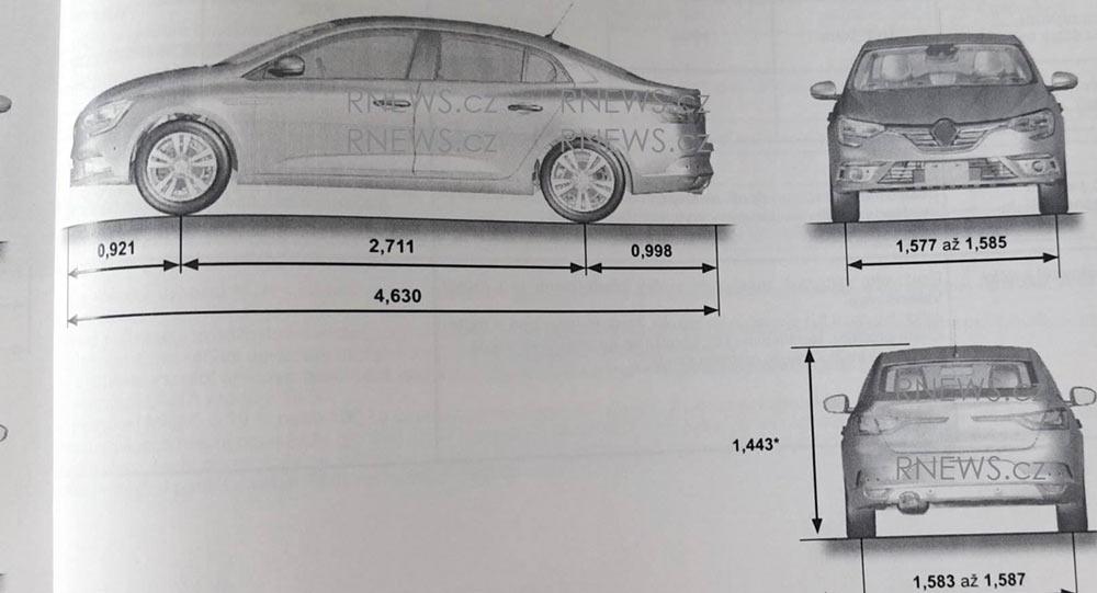 new 2017 renault megane sedan outlined in leaked manual. Black Bedroom Furniture Sets. Home Design Ideas