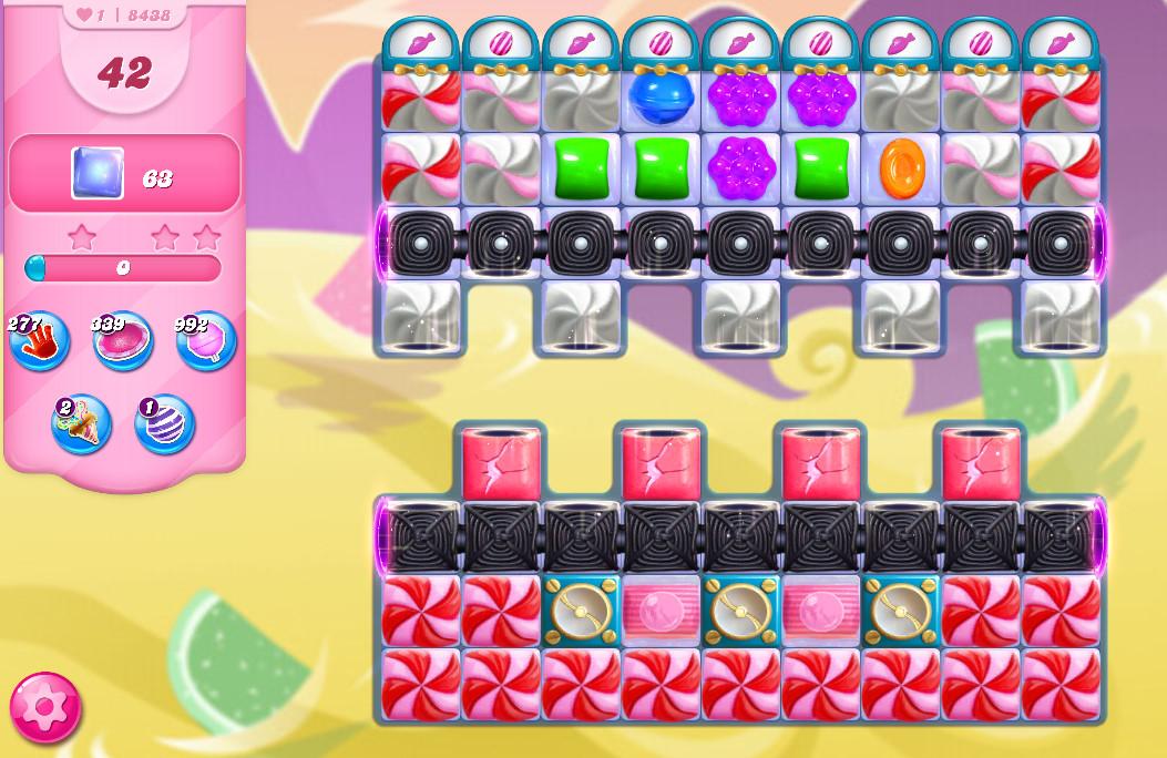 Candy Crush Saga level 8438