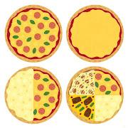 いろいろなピザのイラスト