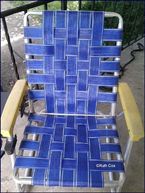 Re-Webbing of Lawn Chair