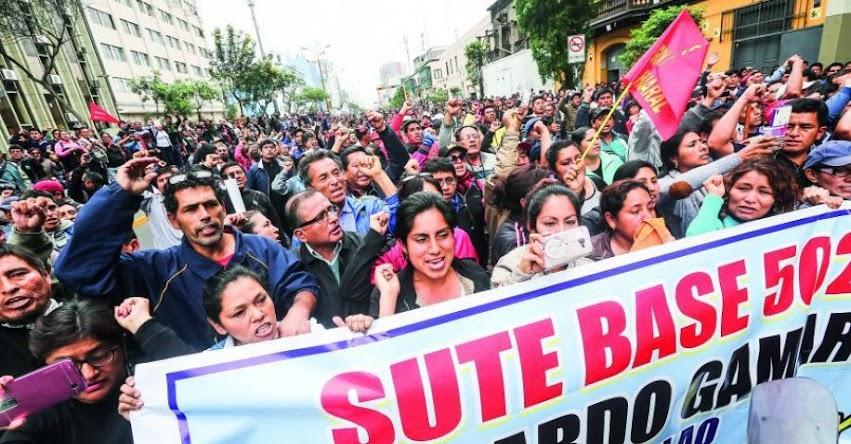 SUTEP: Maestros anuncian huelga nacional para el 18 de Junio