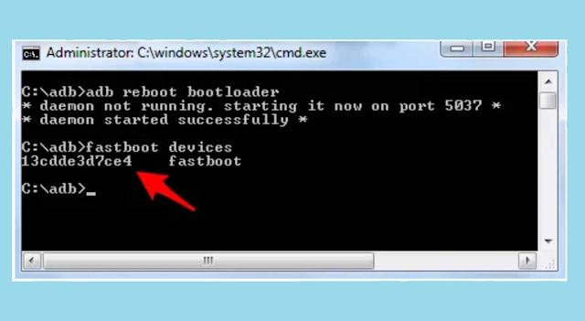 Berhasil Masuk Fastboot Xiaomi dengan CMD