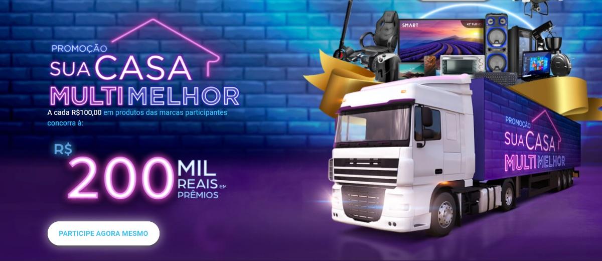 Promoção Multilaser 2021 Sua Casa Multi Melhor Cadastrar - Caminhão Prêmios