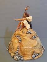 Statuetta diorama sciamano fumetto